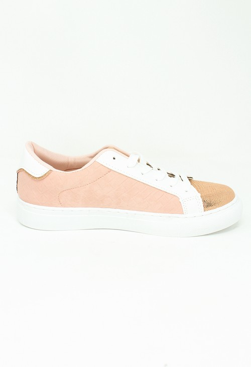 Shoe Lounge Dusty Pink Faux Suede Trainers