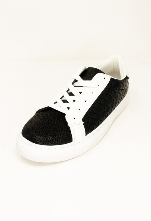 Shoe Lounge Black Faux Leather Trainers
