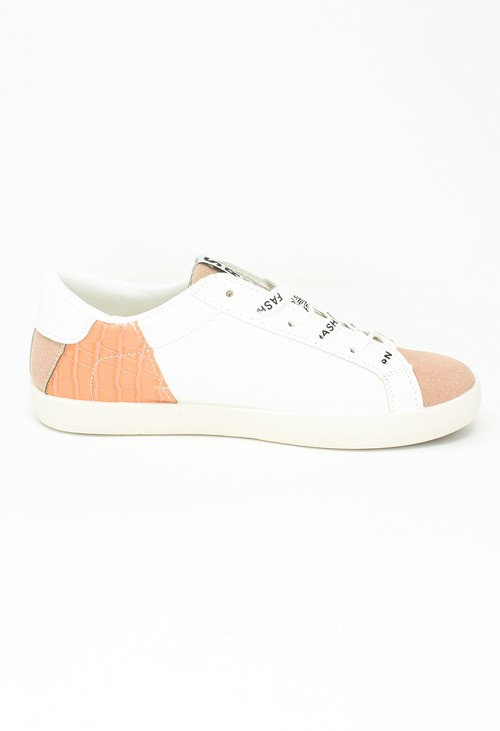 Shoe Lounge Dusty Pink Fashion Laced Trainers