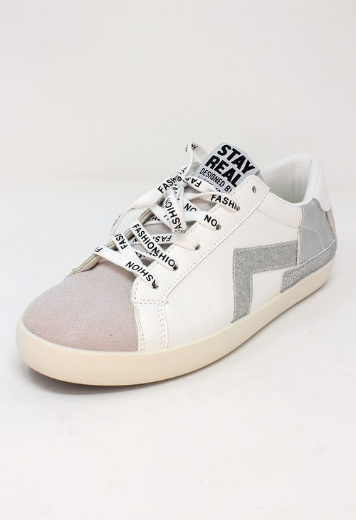Shoe Lounge Silver Fashion Laced Trainers