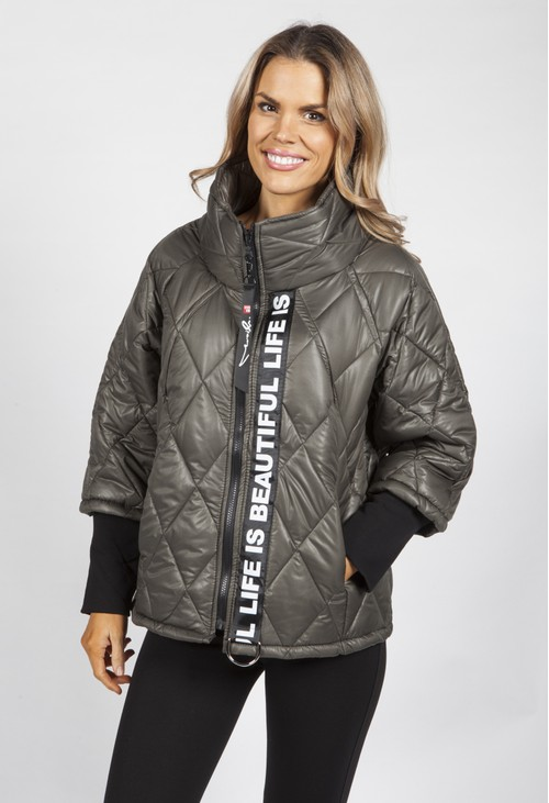 Pamela Scott Khaki Quilted Jacket