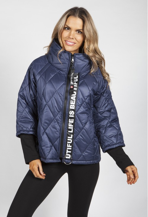 Pamela Scott Navy Quilted Jacket
