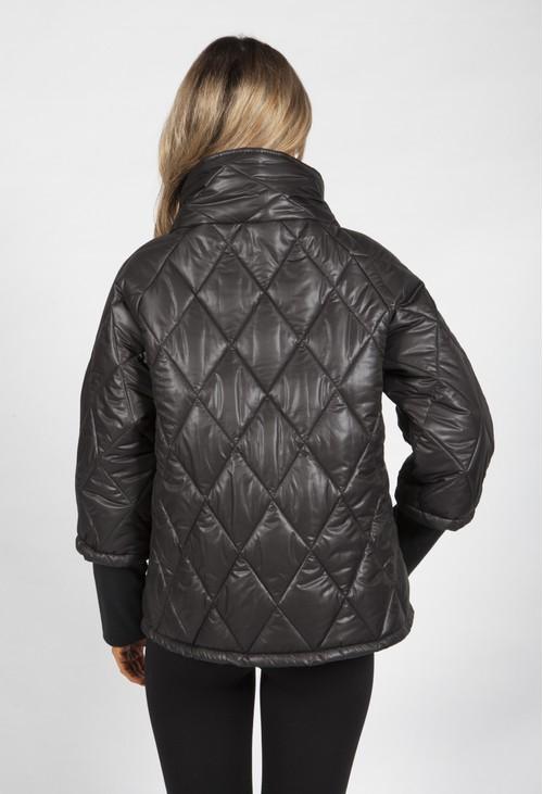 Pamela Scott Black Quilted Jacket