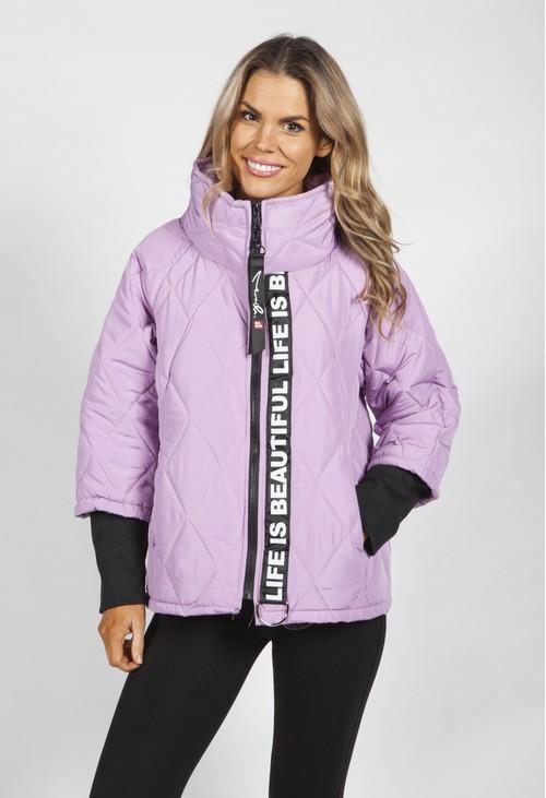 Pamela Scott Lilac Quilted Jacket