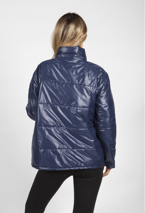Zapara Navy Panelled Jacket