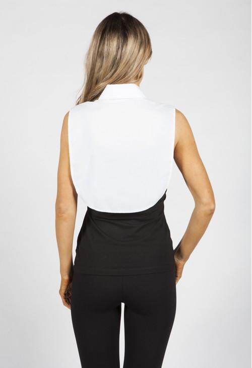 Twist Pleated White Collar Bib