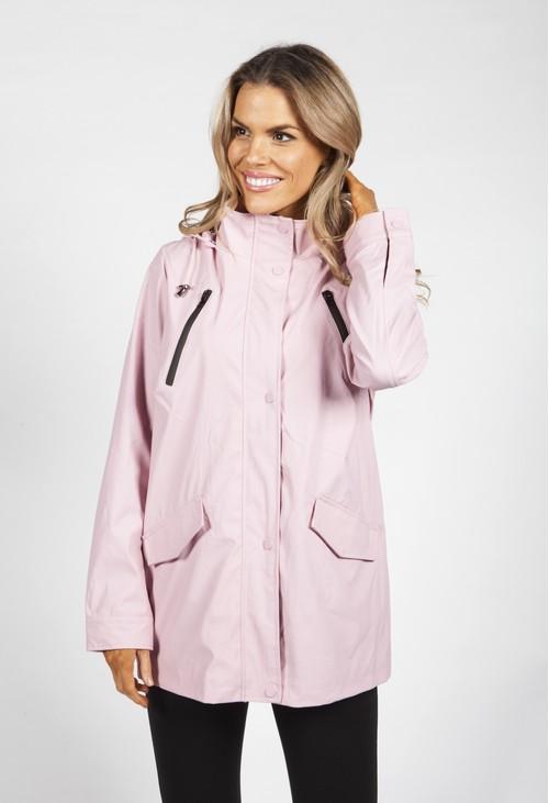 Pamela Scott Pink Marine Rain Coat
