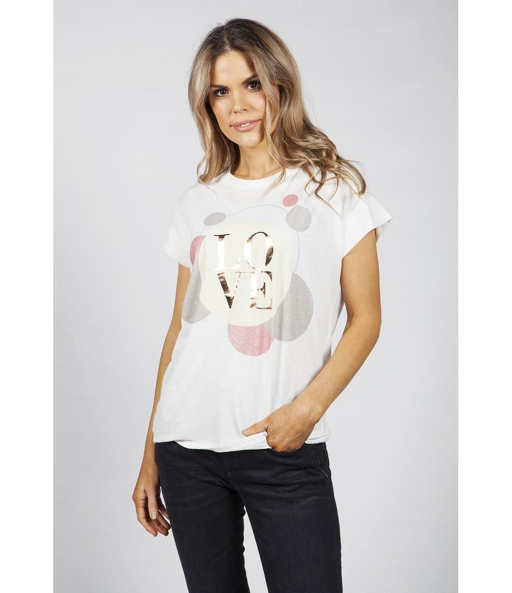 Pamela Scott Love Printed T-Shirt