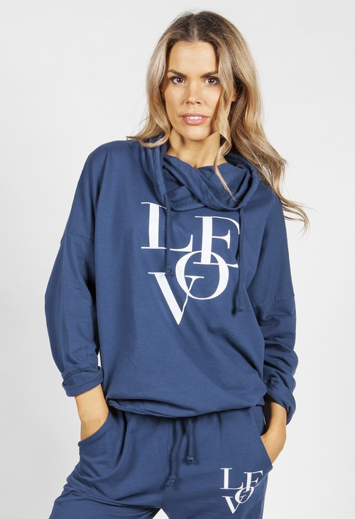Zapara Navy Love Jumper