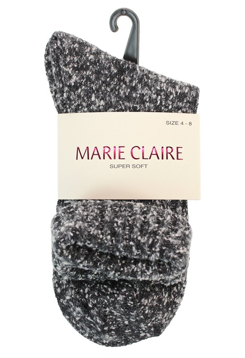 Marie Claire Super Soft Black Cosy Socks