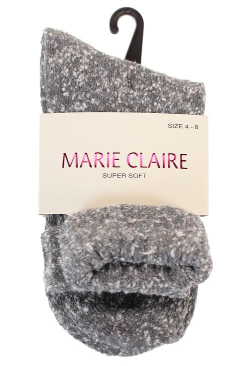 Marie Claire Super Soft Dark Grey Cosy Socks