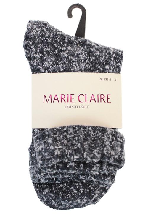 Marie Claire Denim Blue Cosy Socks