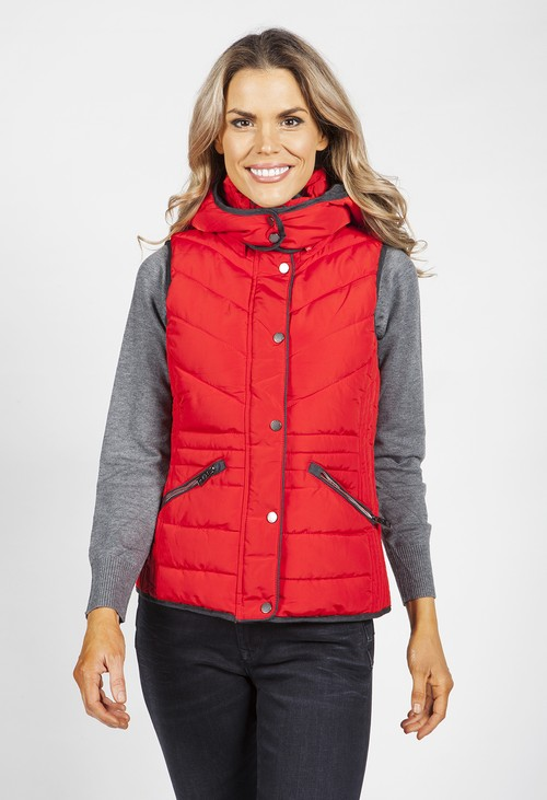 PS Collection Red Hooded Gilet