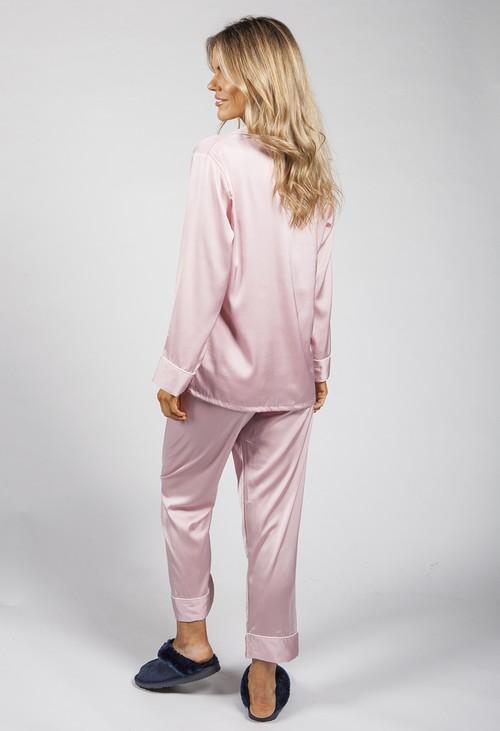 PS Nightwear Luxury Pink Silk Feel Pyjamas