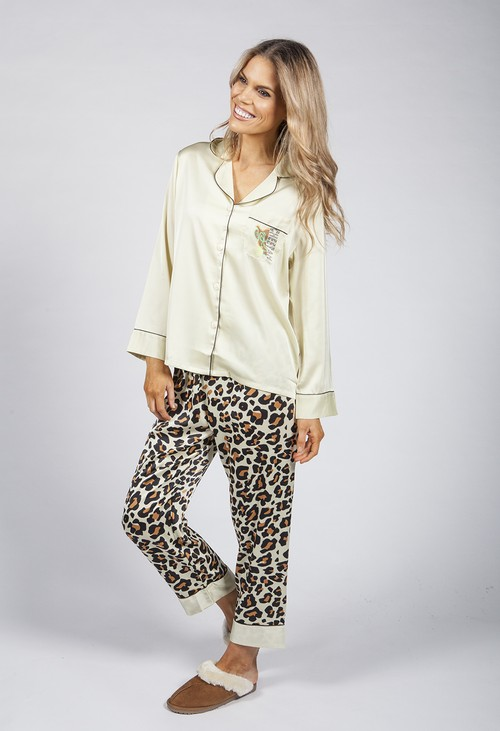 PS Nightwear Luxury Silk Feel Safari Print Pyjamas