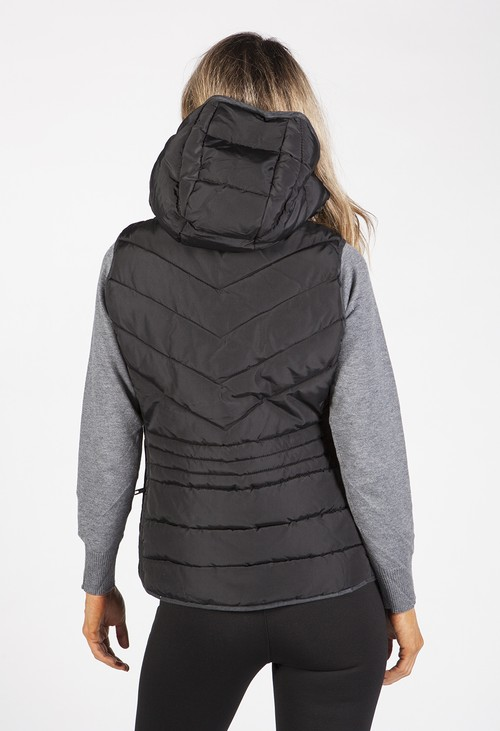 PS Collection Black Hooded Gilet