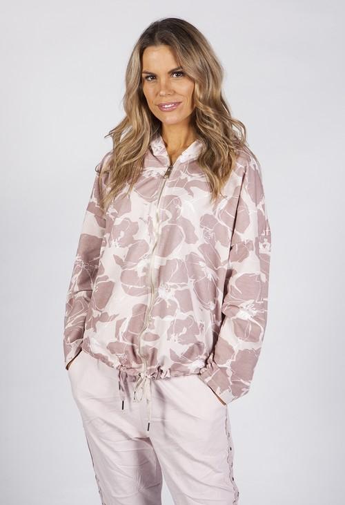 Zapara Dusty Pink Tropical Print Jacket