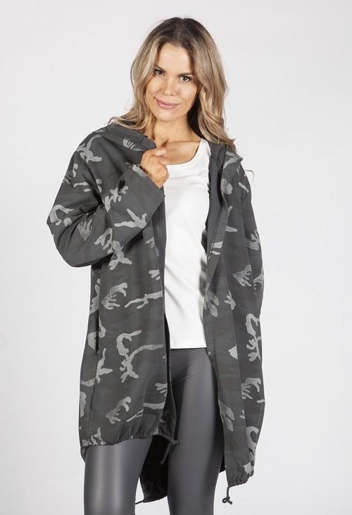 Zapara Dark Grey Angel Wing Light Coat
