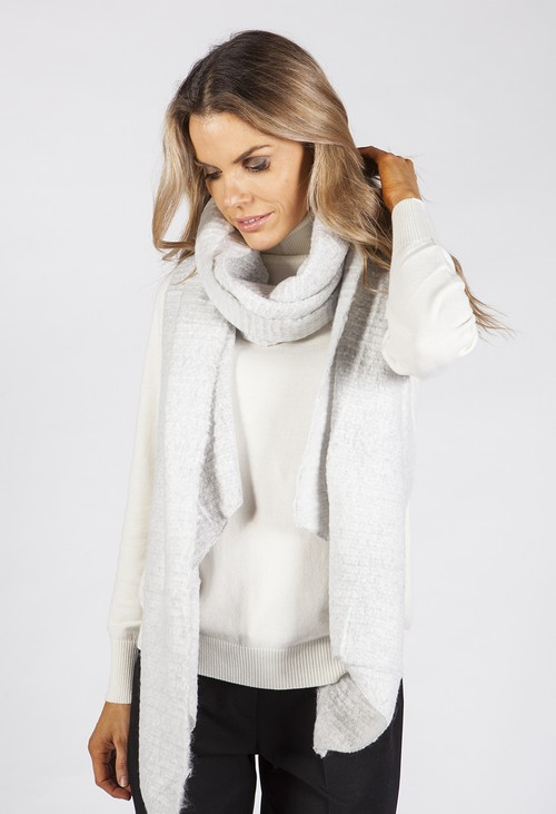 PS Accessories Light Grey Super Soft Wool Feel Scarf