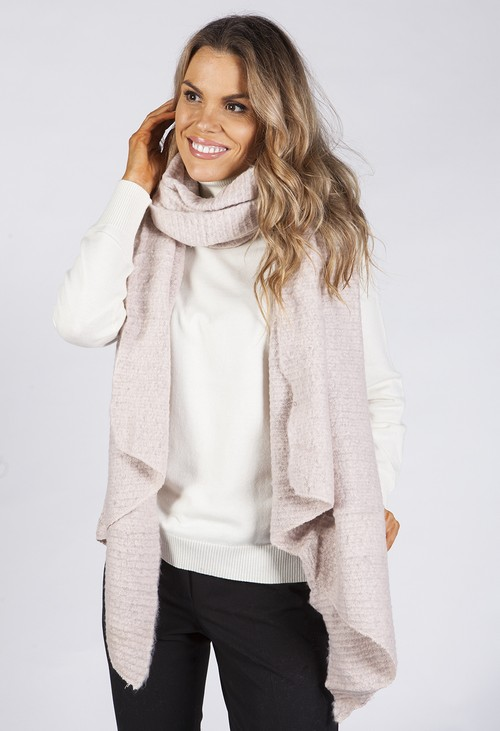 PS Accessories Dusty Pink Super Soft Wool Feel Scarf