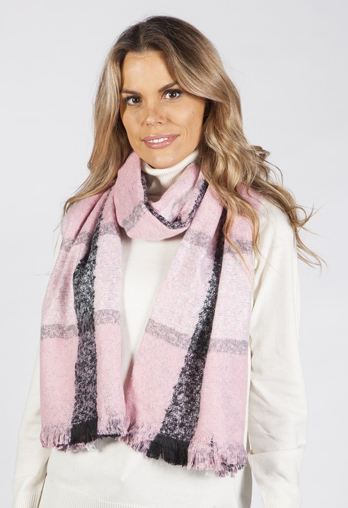 PS Accessories Pink Reversible Snake Print Scarf