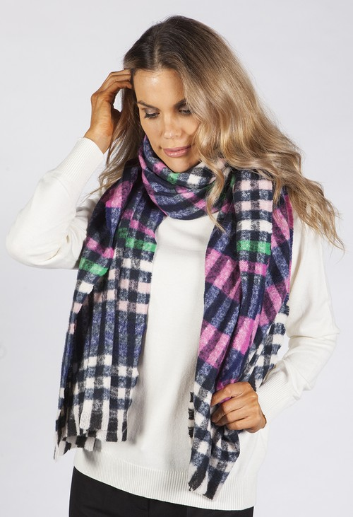 PS Accessories Multicolour Checked Scarf