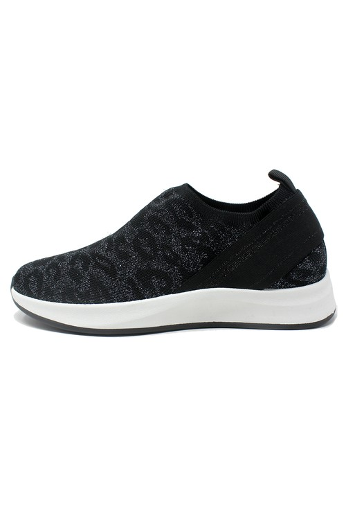 Shoe Lounge Black Animal Printed Trainers