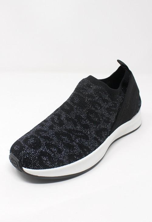 Shoe Lounge Black Animal Printed Trainers