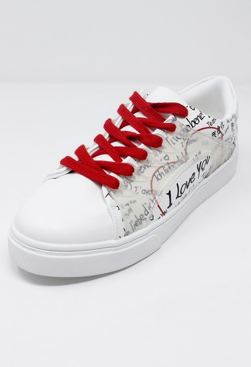 Shoe Lounge Red Laced Love Trainers