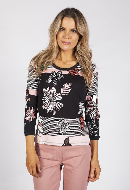 Betty Barclay Floral Print Shirt