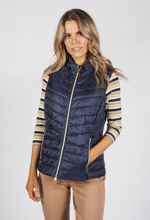Betty Barclay Dark Blue Quilted Bodywarmer