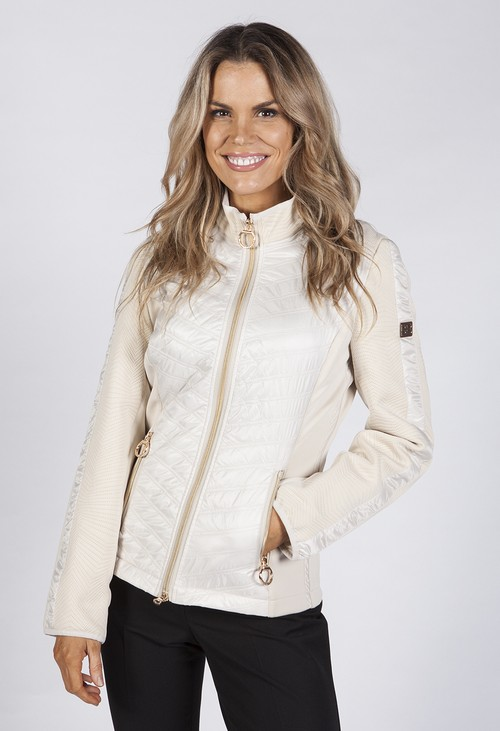 Betty Barclay Champagne Quilted Jacket