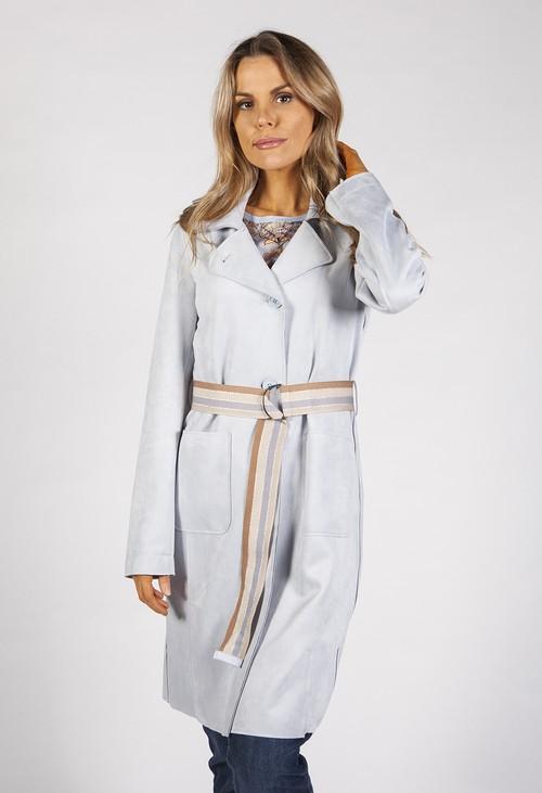 Betty Barclay Light Blue Suede Feel Coat