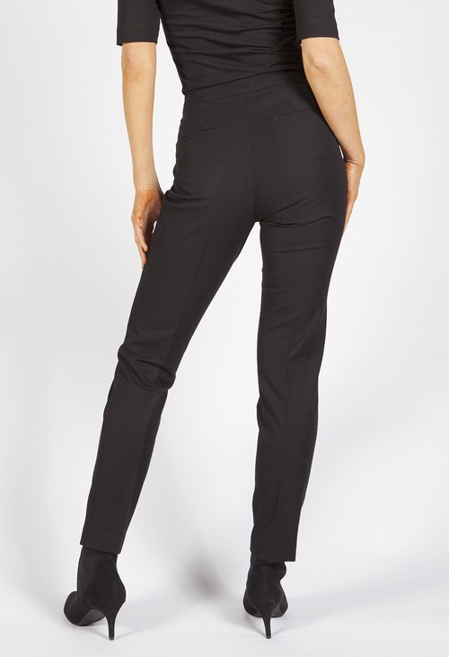 Betty Barclay Black Tailored Trousers with Gold Zip Details
