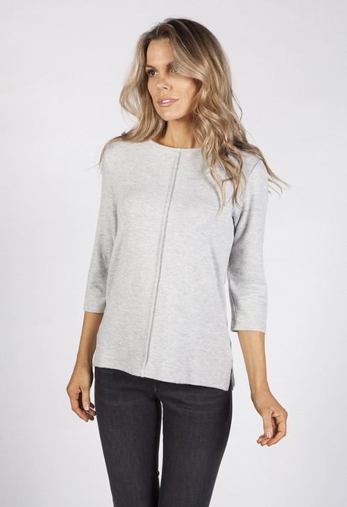 Bicalla Light Grey Knit Top