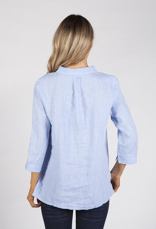 Bicalla Sky Blue Linen Shirt