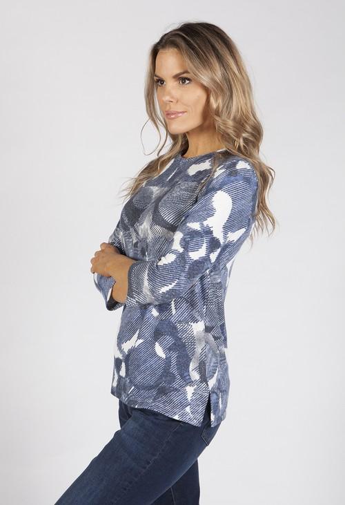 Bicalla Blue Soft Print Shirt