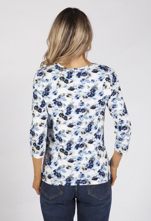 Bicalla Watercolour Blue Floral Top