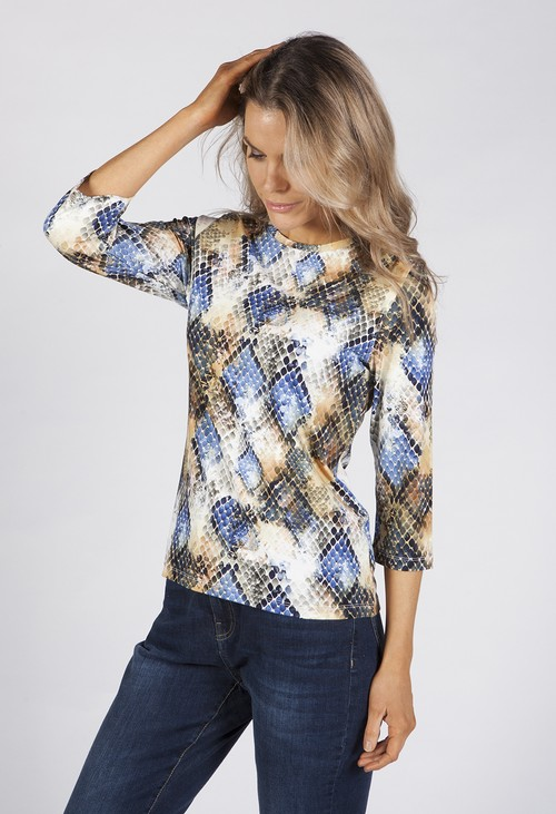 Bicalla Snake Skin Print Top