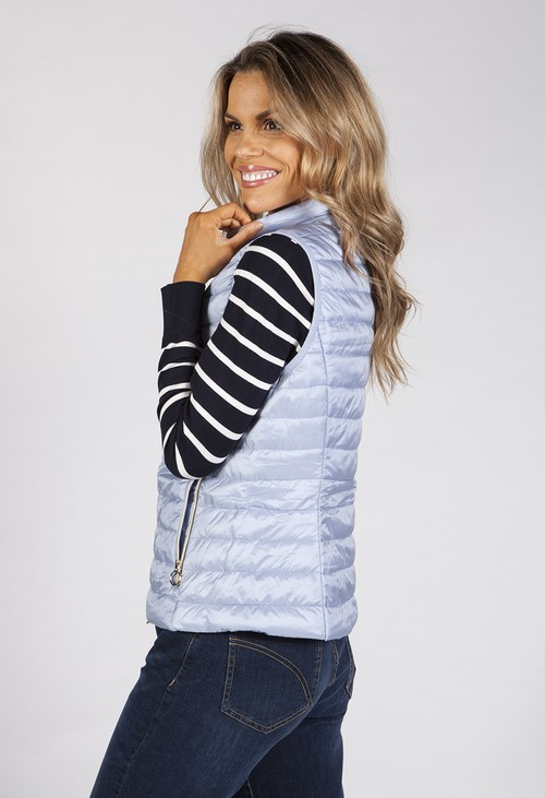 Betty Barclay Sky Blue Quilted Bodywarmer