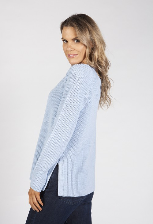 Bicalla Baby Blue Knit Top