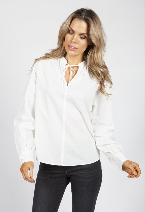 Opus White Fraube Blouse