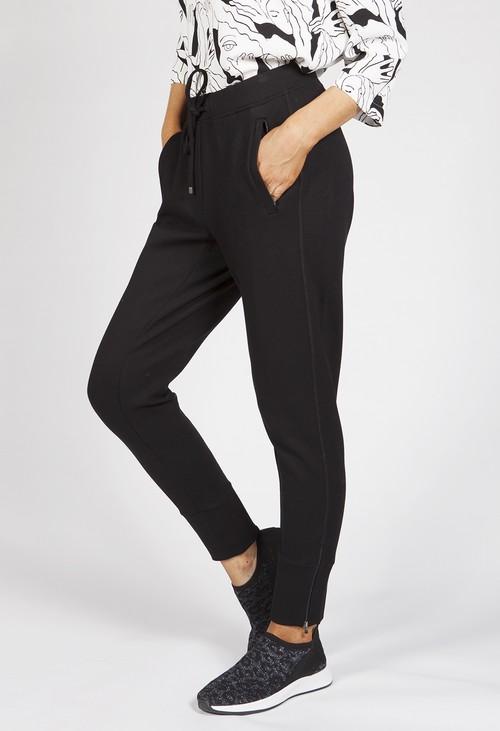 Opus Edigna Zip Black Trousers