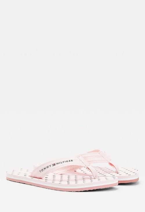 Tommy Hilfiger Light Pink Repeat Flag Flip Flop