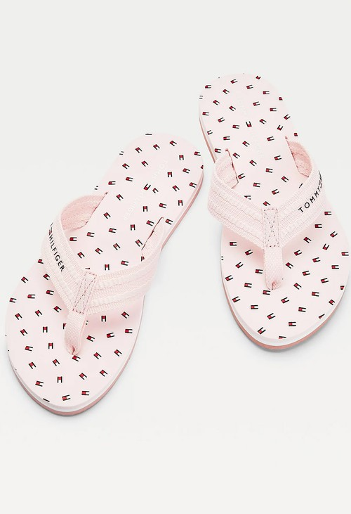 Tommy Hilfiger Light Pink Repeat Flag Flip Flop