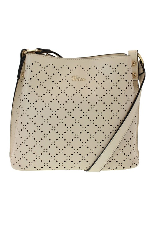 Dice Off White Laser cut Cross Body Bag