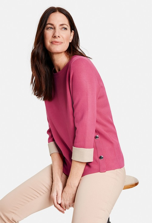 Gerry Weber Pink Double-Knit Sweatshirt