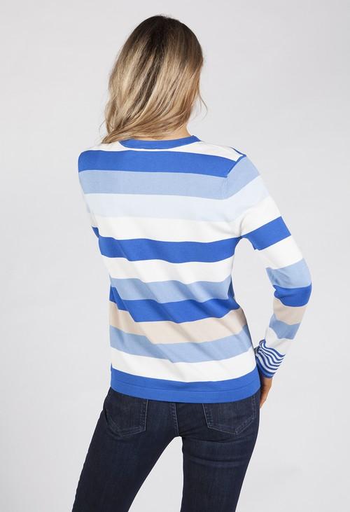 Gerry Weber Blue Toned Stripe Jumper