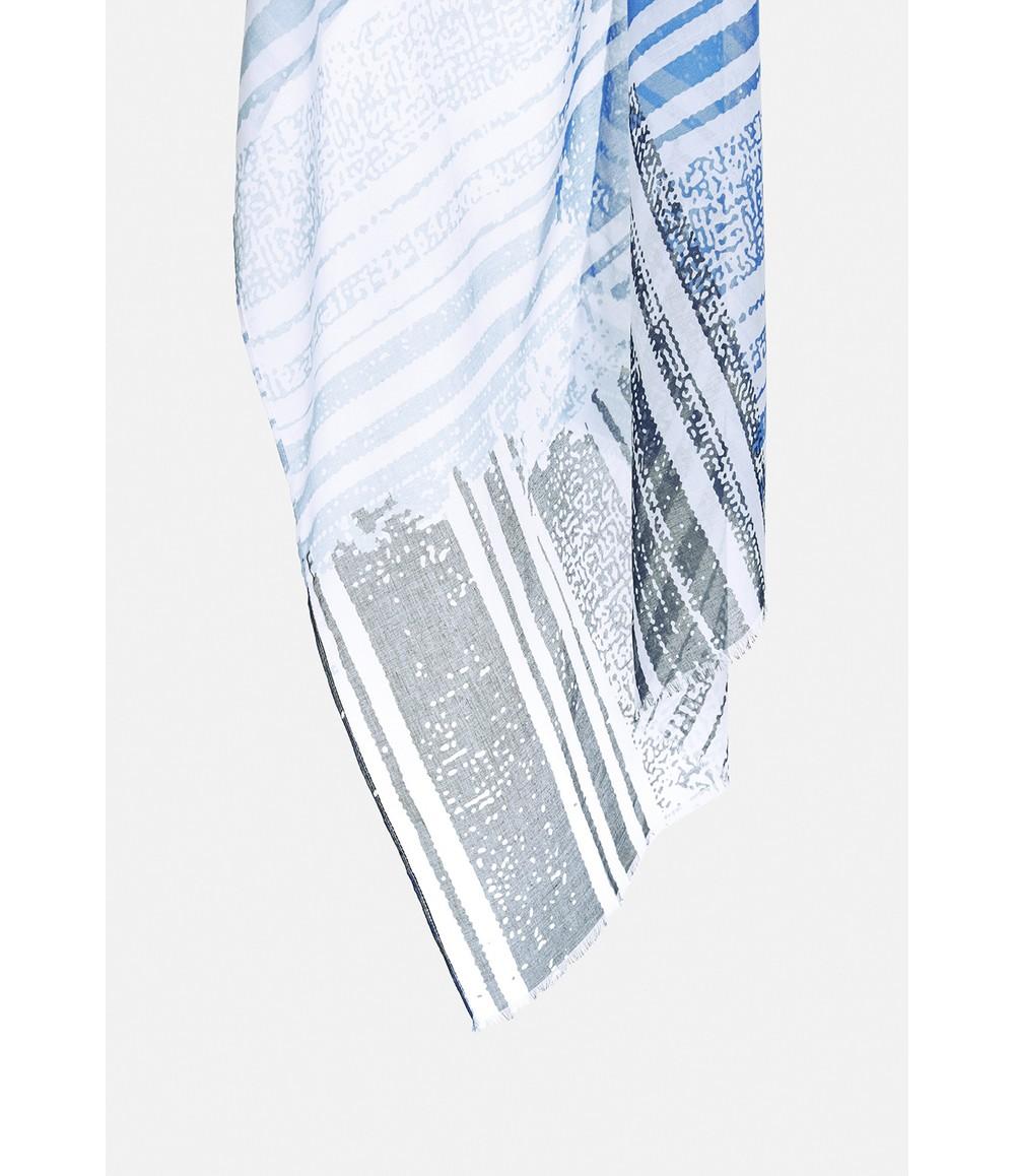 Gerry Weber Blue Mixed Stripe Scarf