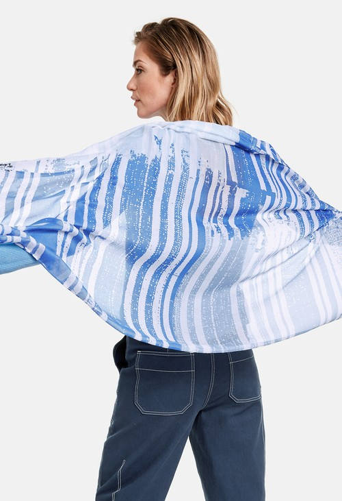 Gerry Weber Blue Mixed Stripe Scarf